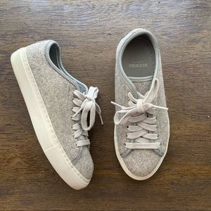 Diemme Gray Felt Veneto Sneakers 36 6